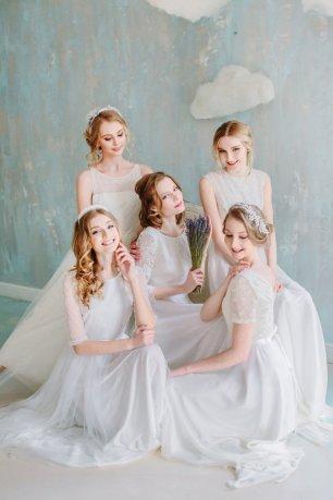 Горошина свадебные платья